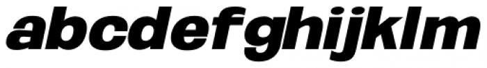 Oddlini Extra Black Se Expd UObli Font LOWERCASE