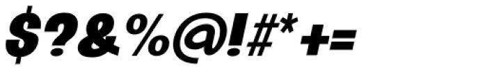 Oddlini Extra Black Ut Condensed Ut Obli Font OTHER CHARS