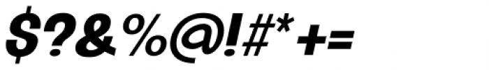 Oddlini Extra Bold Ex Condensed Ut Obli Font OTHER CHARS