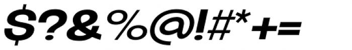 Oddlini Extra Bold Expd Ut Obli Font OTHER CHARS