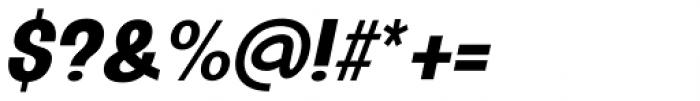 Oddlini Extra Bold Ut Condensed Ut Obli Font OTHER CHARS