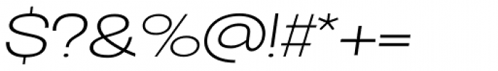 Oddlini Extra Light Ut Expd Obli Font OTHER CHARS