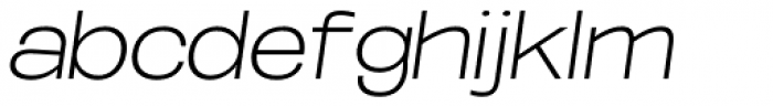 Oddlini Extra Light Ut Expd Obli Font LOWERCASE