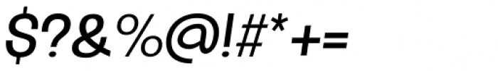 Oddlini Regular Condensed Obli Font OTHER CHARS