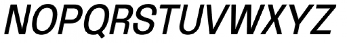 Oddlini Regular Condensed Ut Obli Font UPPERCASE