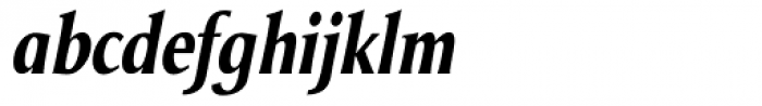 Odense Condensed Bold Italic Font LOWERCASE