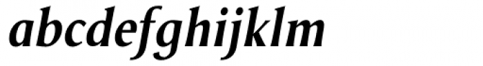 Odense DemiBold Italic Font LOWERCASE