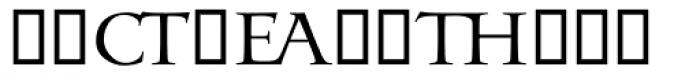 Odyssey Ligatures Font UPPERCASE