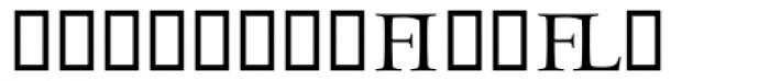 Odyssey Ligatures Font LOWERCASE