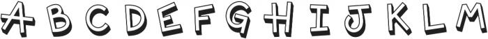 Offhand 3D otf (400) Font LOWERCASE