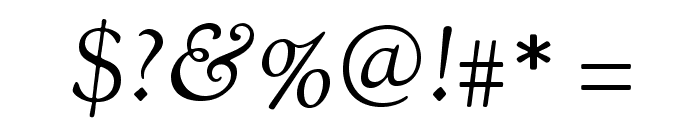 OFL Sorts Mill Goudy Italic Font OTHER CHARS