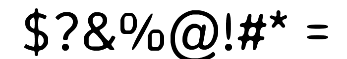 Off-curve Font OTHER CHARS