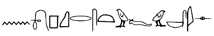 Off_Ancient_Egyptian Font UPPERCASE