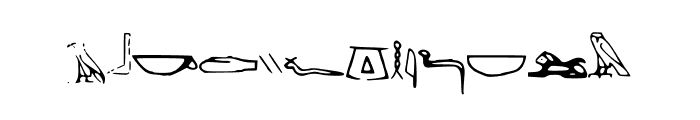 Off_Ancient_Egyptian Font LOWERCASE