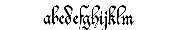Offenbach Chancery Font LOWERCASE