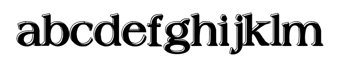 Offset Plain Font LOWERCASE