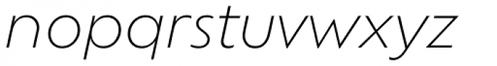 Ofelia Std Light Italic Font LOWERCASE