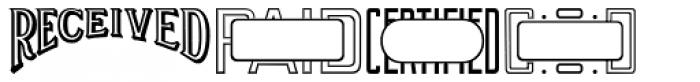 Office Stamps JNL Font UPPERCASE