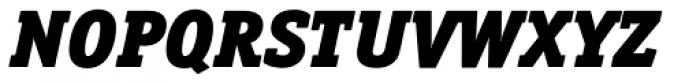Officina Serif Pro Black Italic Font UPPERCASE