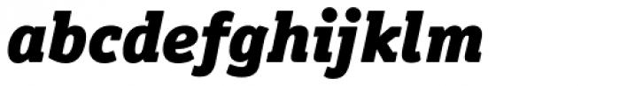 Officina Serif Pro Black Italic Font LOWERCASE