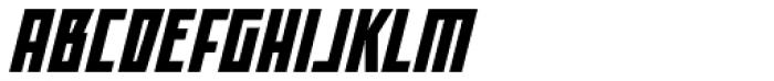 Offroad Black Oblique Font UPPERCASE
