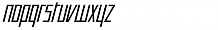 Offroad Book Oblique Font LOWERCASE