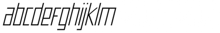 Offroad Expanded Light Oblique Font LOWERCASE