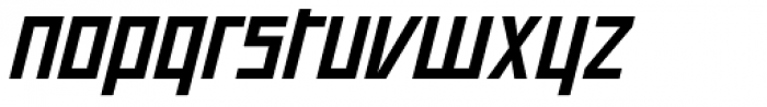 Offroad Wide Bold Oblique Font LOWERCASE