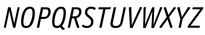 OfficinaSansStd-BookItalic Font UPPERCASE