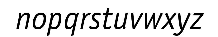 OfficinaSansStd-BookItalic Font LOWERCASE