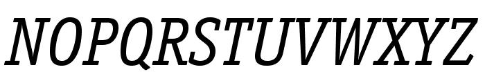 OfficinaSerifStd-BookItalic Font UPPERCASE