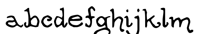 OgdredWeary Font LOWERCASE