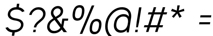 Ogonek Italic Font OTHER CHARS
