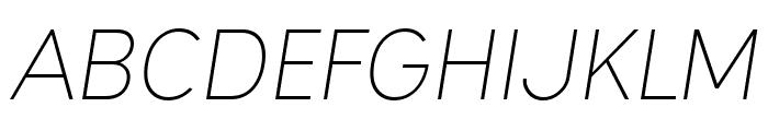 Ogonek Light Italic Font UPPERCASE