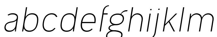 Ogonek Light Italic Font LOWERCASE