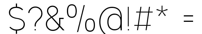 Ogonek Light Font OTHER CHARS