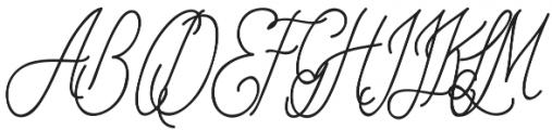 OHBlue Waves otf (400) Font UPPERCASE
