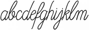 OHBlue Waves otf (400) Font LOWERCASE
