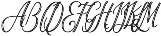 OHBlue Waves striped otf (400) Font UPPERCASE