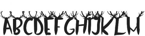 Oh Deer Simple otf (400) Font UPPERCASE