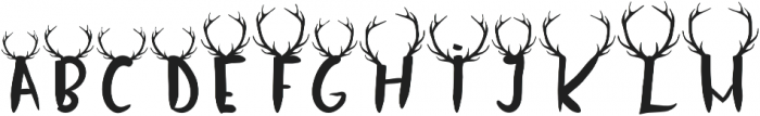 Oh Deer Uppercase otf (400) Font LOWERCASE