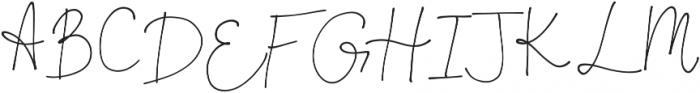 OhDarling Regular otf (400) Font UPPERCASE