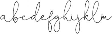 OhDarling Regular otf (400) Font LOWERCASE