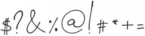 OhDarling Regular ttf (400) Font OTHER CHARS