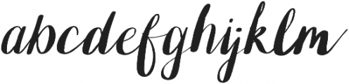 OhPrettyPlease Hand Lettered otf (400) Font LOWERCASE