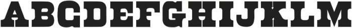 Ohio Regular ttf (400) Font UPPERCASE