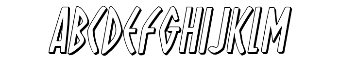 Oh Mighty Isis 3D Italic Font UPPERCASE