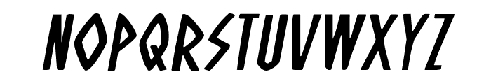 Oh Mighty Isis Expanded Italic Font LOWERCASE