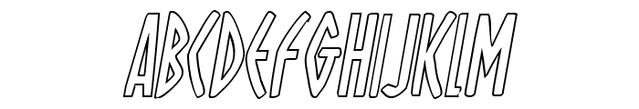 Oh Mighty Isis Outline Italic Font UPPERCASE