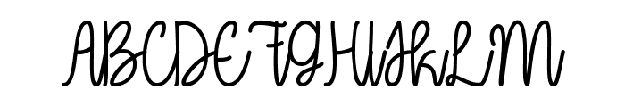 Oh My It's July Font UPPERCASE
